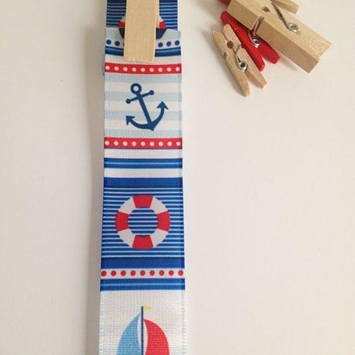 cinta de saten con motivos nauticos